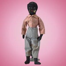 Black Beecher Type Stockinet Doll