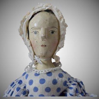German Peg Wooden Doll