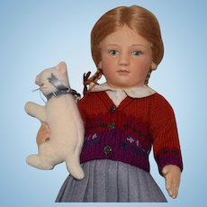 """R. John Wright Little Children Series II """"Lisa"""" Felt Doll"""