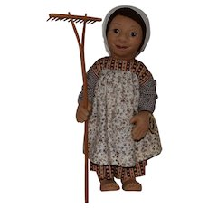 "R. John Wright Early Primitive Felt Doll ""B2"""