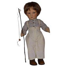 """R. John Wright Little Children Series I """"Tad"""" Felt Doll"""