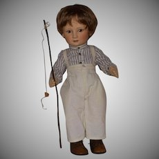 "R. John Wright Little Children Series I ""Tad"" Felt Doll"