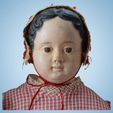 Early German Papier Mache Child Doll