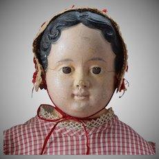 Early German Papier Mache Child Doll