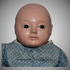 Papier Mache German Taufling Baby with Motschmann Body