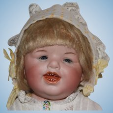 Gebruder Heubach German Bisque Head Grinning Character Doll