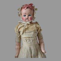 German Wax over Papier Mache Doll