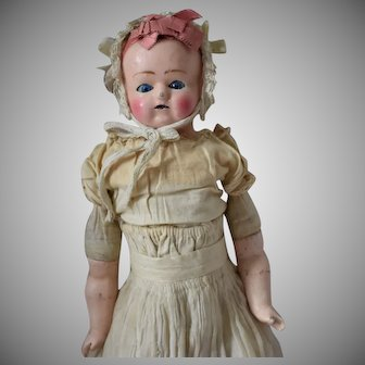 German Wax over Papier Mache Doll