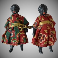 Tiny Antique German Composition Dolls in Original Condition