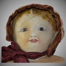 Blonde Oil Painted Cloth Doll