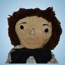 New England Handmade Cloth Raggedy Andy Doll