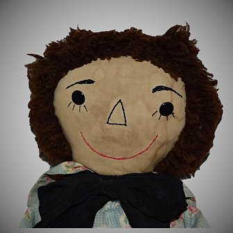 New England Handmade Cloth Raggedy Andy Doll