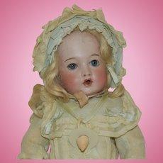 Petite Size French Bisque Bru Jne Teteur (Nursing) Doll in Original Clothing
