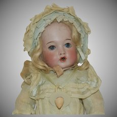 Petite Size French Bisque Bru Jne Teteur (Nursing) Doll in Original Clothing