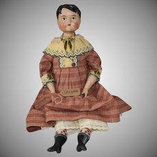 "Lora Soling OOAK Papier Mache Artist Doll ""Bertie Trueman"""