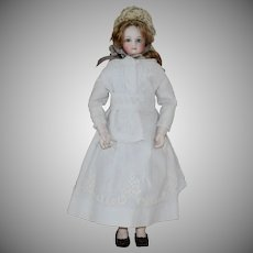 Fabulous Jumeau Fashion Poupee with Kid over Wood Body and Bisque Limbs