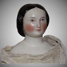 Kloster Veilsdorf Early German China Head Doll with Braided Bun