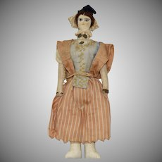 Victorian Hand Made Cloth Doll House Size Doll