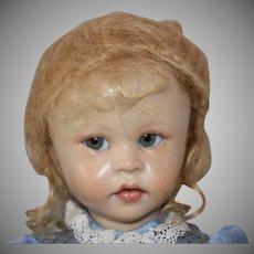 "Brigitte Deval Wax over Porcelain Artist Doll ""Baby II"""