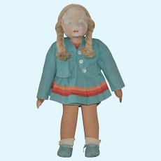 WPA Cloth Doll in Original Detailed Costume