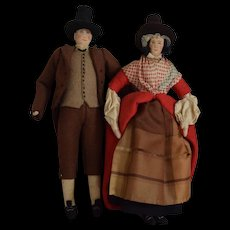 Liberty of London Cloth Couple in Regional Wales Costumes