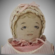 "Moravian Cloth Doll ""Polly Heckerwelder"""