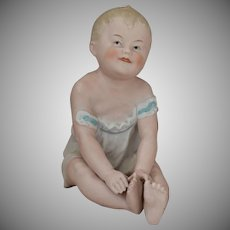 Gebruder Heubach All Bisque Piano Baby Figurine