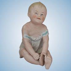 Gebruder Heubach All Bisque Piano Baby Figurine