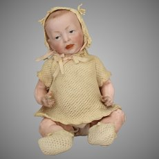 Kammer & Reinhardt Bisque Head Character Baby 100 with Original Costume