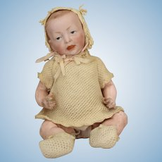 Kammer & Reinhardt Bisque Head Character Baby 100 with Original Costume