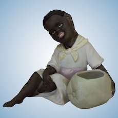 Antique All Bisque Black/Brown Character Figurine