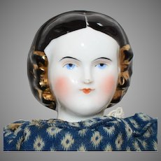 Kestner & Company China Shoulder Head Doll with Snood