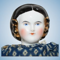 Kestner & Company China Shoulder Head Doll with Snood