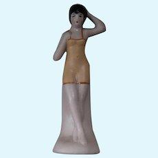 German Bisque Bathing Beauty Figurine
