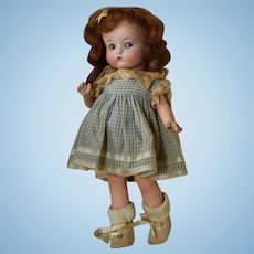 "Googly German Bisque Head Character Doll ""Just Me"" by Armand Marseille"