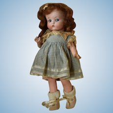 """Googly German Bisque Head Character Doll """"Just Me"""" by Armand Marseille"""