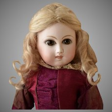 Early Petite Premiere Jumeau Doll with Pressed Bisque Head