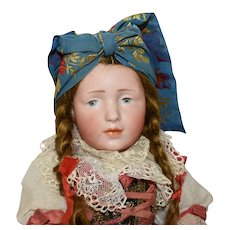 "K*R 109 Ethnic Dressed German Character Doll ""Elise"" Manufactured By Simon & Halbig"