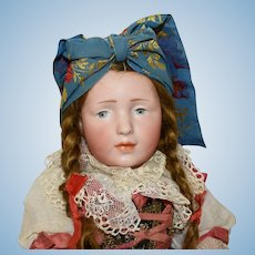 """K*R 109 Ethnic Dressed German Character Doll """"Elise"""" Manufactured By Simon & Halbig"""