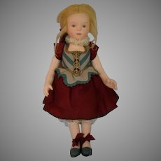 """""""Musette"""" R. John Wright Felt 2003 UFDC Souvenir Candy Container Doll"""