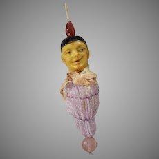 Harlequin Baby Crib Toy with Hard Plastic Head