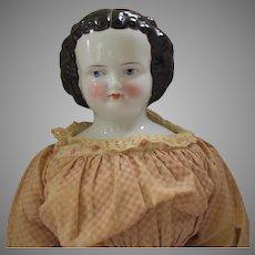Flat Top German Kister China Head Doll