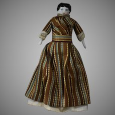 Low Brow China Head Doll in Smaller Doll House Size