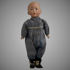 "Gebruder Heubach German Bisque Head Character ""Whistler"" Doll"