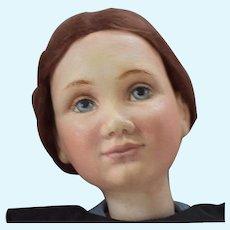 Charlene Wrestling Fabric over Composition Amish Girl Artist Doll