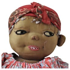 Brown Cloth Character Face Doll
