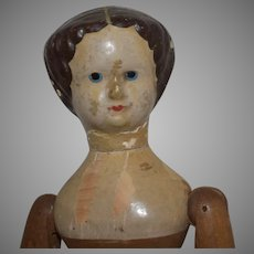 Antique Springfield, Vermont, Wooden Doll