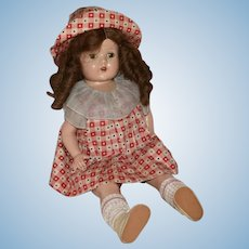 Excellent Condition Composition Mama Doll with Original Costume