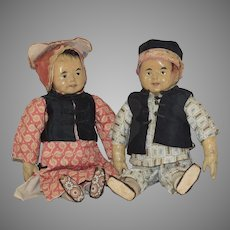 """Five Finger Ching"" Cloth Benefit Doll Pair"