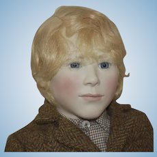 """Limited Edition  Artist Doll """"Simon"""" English Porcelain and Wood Boy by Lynne and Michael Roche"""
